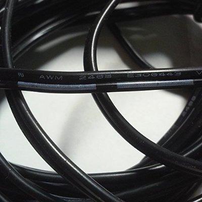hanvex 100 pies 2.1mm x 5.5mm enchufe de la cc cable de exte