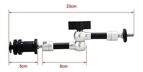 haoge 7 pulgadas ajustable friccion brazo articulado para ca
