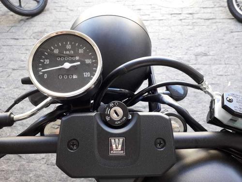 haojue chopper cafe-race 150 0km garantia de fabrica