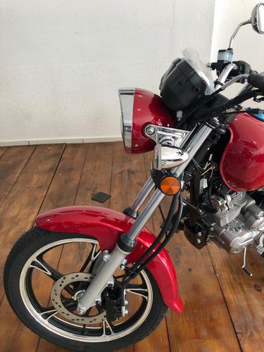 haojue custom chopper road 150cc  vermelha 2019