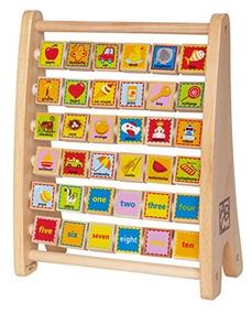Hape De Madera Alphabet Abacus Cono Juguete yvwOP80nmN
