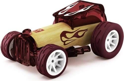 hape bruiser bamboo niños juguete carro