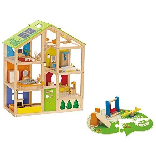 hape e3461 muñeca de madera muebles de la casa juego de ja