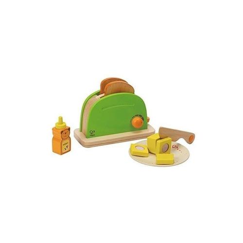 hape pop up toaster juego de cocina de madera con accesorios