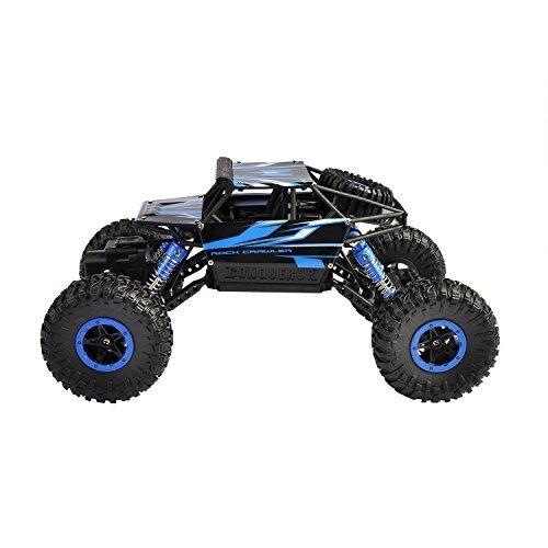 hapinic rc coche con dos baterías 4wd 2.4ghz 1/18 crawlers o