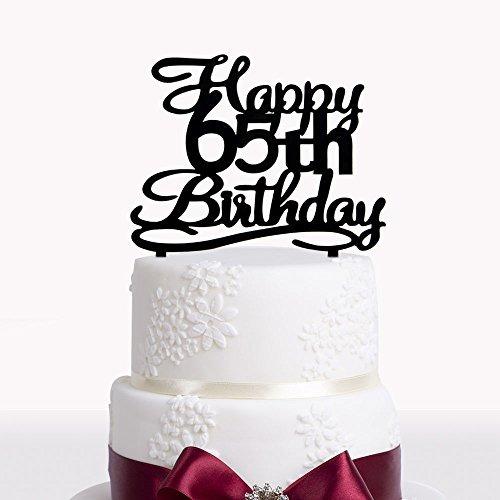 Happy 65th Birthday Cake Topper De Acrilico Para 65 Anos D
