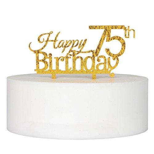 Happy 75th Birthday Cake Topper