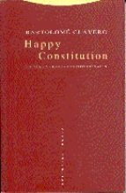 happy constitution, clavero salvador, trotta