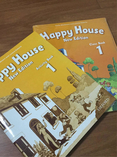 happy house 1 class book activity book