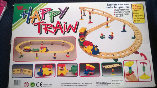 happy train play set tren pista infantil