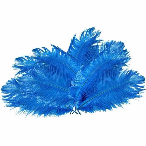 happy will 50 pcs decoración avestruz plumas 15-20cm azul