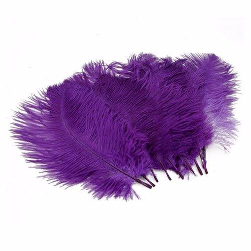 happy will 50 pcs decoración avestruz plumas 15-20cm morado
