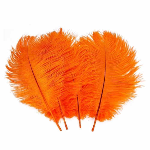 happy will 50 pcs decoración avestruz plumas 15-20cm naranja
