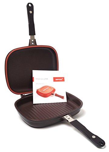 happycall doble grill pan de corea del modelo original de j