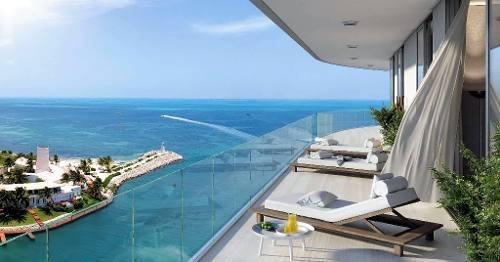 harbour beach. lujosas residencias de firma con prestigio mundial y vista al mar en novo cancún. 2 recs. puerto cancún