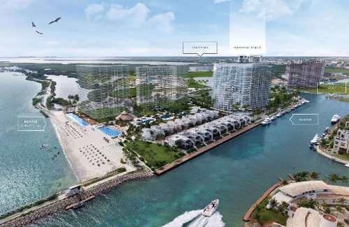 harbour beach. lujosas residencias de firma, con prestigio mundial y vista al mar en novo cancún. 4 recs. puerto cancún.