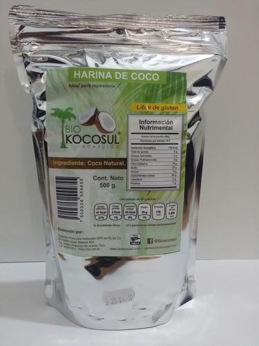 harina de coco 100% orgánica 60 paq hecha en acapulco 30 kg