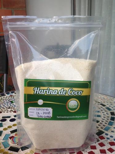 harina de coco sin azucar y sin grasa colombia (1 kg)