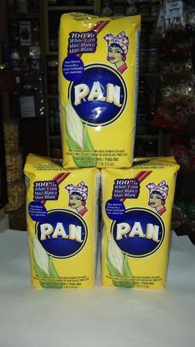 harina de maiz ideal para arepa, importada , 1kg marca pan