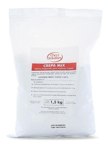 harina para crepas, crepamix bolsa 1.5 kg neutra cafeboato