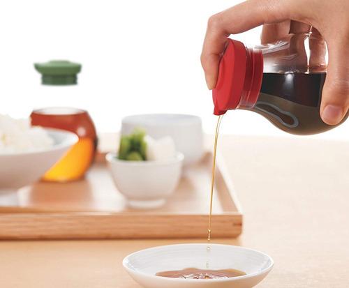hario soja botella salsa, 180 ml, rojo