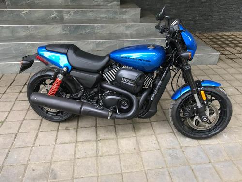 harle davidson street rod 750 electric blue 2018 (nueva)
