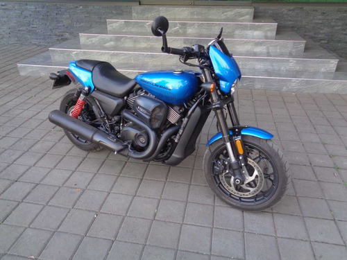 harle davidson street rod 750 electric blue 2018 (nueva)