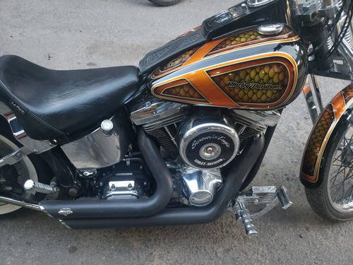harley davidson 1340 softail chopper tunning charliebrokers