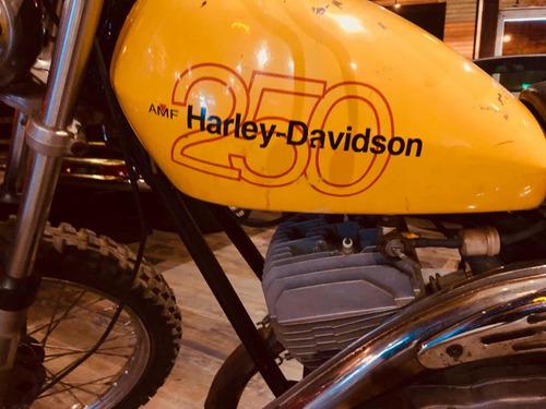 harley davidson 250 aermacchi 2t 1980 scrambler orig permuto