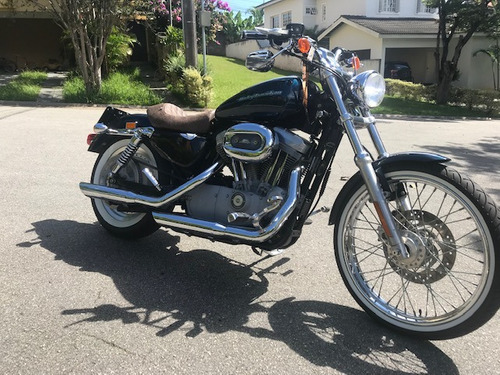 harley davidson 883 custom americana carburada - maravilhosa