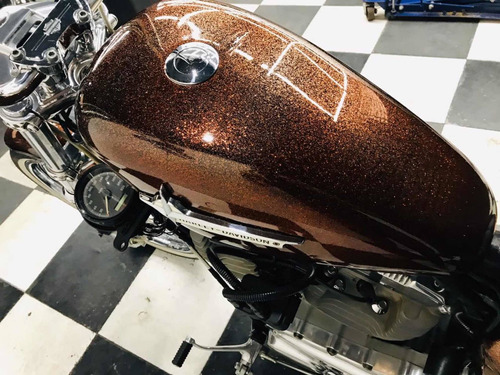 harley-davidson 883 low carburada