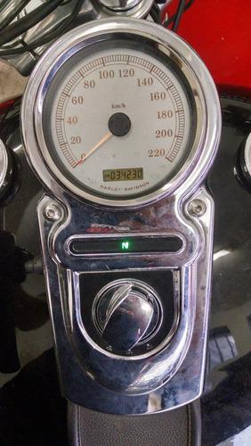 harley davidson dyna super glide custom 2011 km 34.230 preta