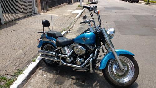 harley davidson fat boy 2011 1600cc azul com scream in eagle