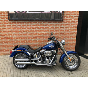 Harley Davidson Fat Boy 2015 Azul Impecavel