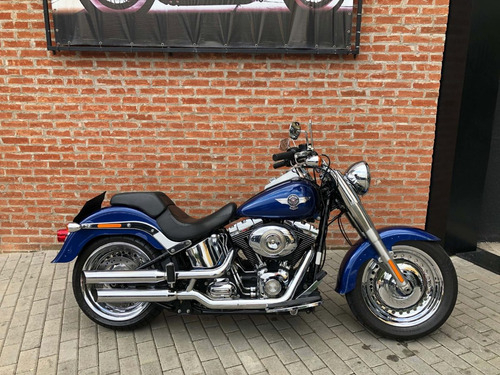 harley davidson fat boy 2015 azul impecavel