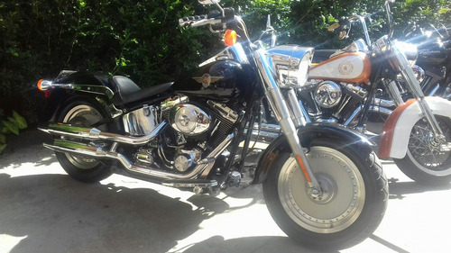 harley davidson fat boy carburada!!! 2001 garagem retrô