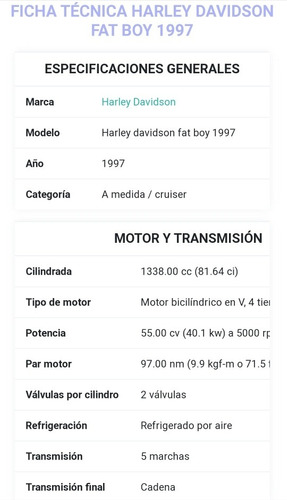 harley davidson fatboy 1997