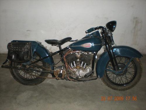 harley davidson flat head moto antiga coleção antiquidade