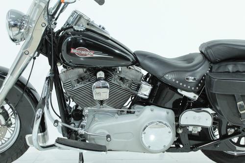 harley-davidson heritage softail custom 2008 preta