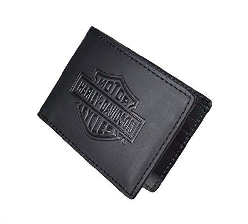 harley-davidson mens bar & shield logo flip fold cartera de