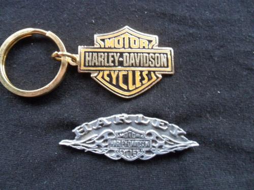 harley davidson motorcycle llavero + pin escudo no manual