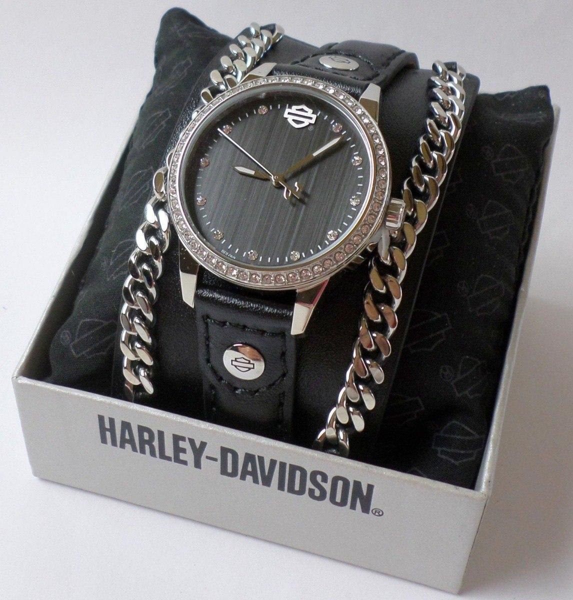 6e145b72447 harley davidson relógio feminino crystal bulova original. Carregando zoom.