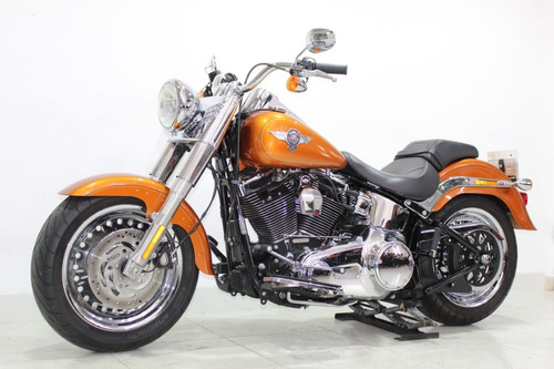 harley davidson softail fat boy 2014 laranja