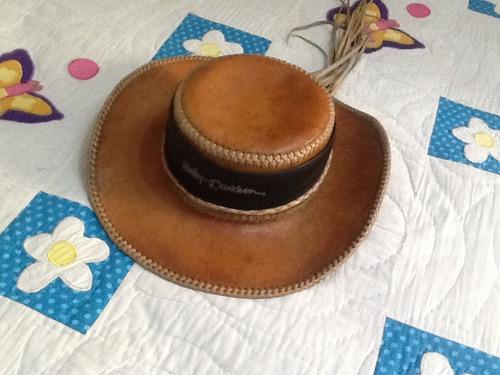 harley davidson sombrero de piel