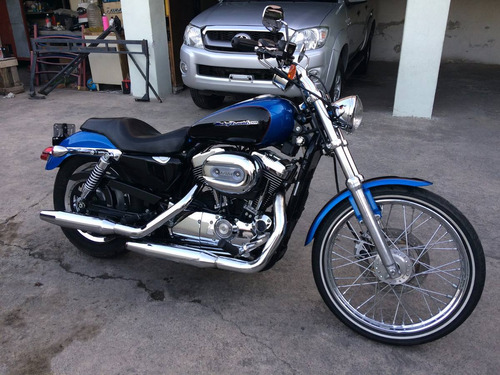 harley davidson sportster 1200 cc custom azul 2004