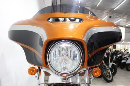 harley davidson street glide 2014 laranja