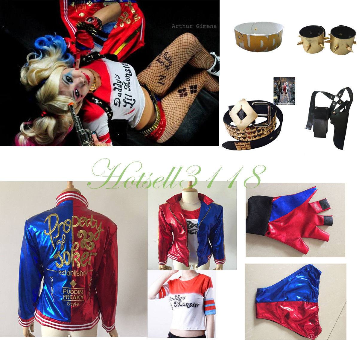 harley quinn suicide squad set completisimo ! talle m. Cargando zoom. b1823984c9a1