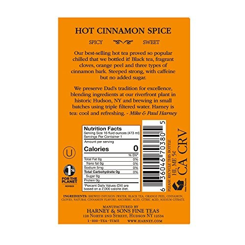 harney and sons hot cinnamon spice unsweetened black iced te