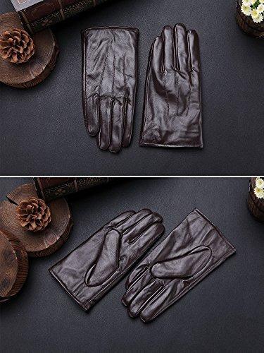 harrms mejor pantalla táctil nappa guantes de piel auténti