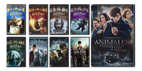 harry potter  1 - 8 + animales fantasticos peliculas dvd